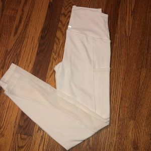 """Aerie white """"Chill Play Move"""" Leggings"""